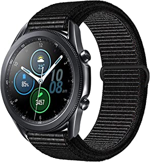 Lomet 22mm Stainless Steel Mesh Loop Bracelet Strap Compatible with Samsung Galaxy Watch 3 45mm/Gear S3 Frontier/Classic B...