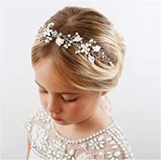 Ivory bridesmaid hairband with bow /& large diamante cluster christening//wedding