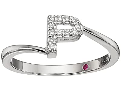 Roberto Coin Tiny Treasure Initial P Love Letter Ring (White Gold) Ring
