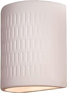 Minka Lavery Outdoor Wall Light 564-1 White Ceramic Dark Sky Exterior Pocket Sconce Lantern, White