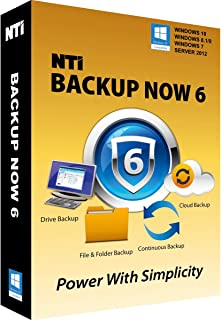 """NTI Backup Now PRO 6 (5-PCs) [On Sale!] The """"Best Buy"""" Award-winning Backup Software for Office PCs"""