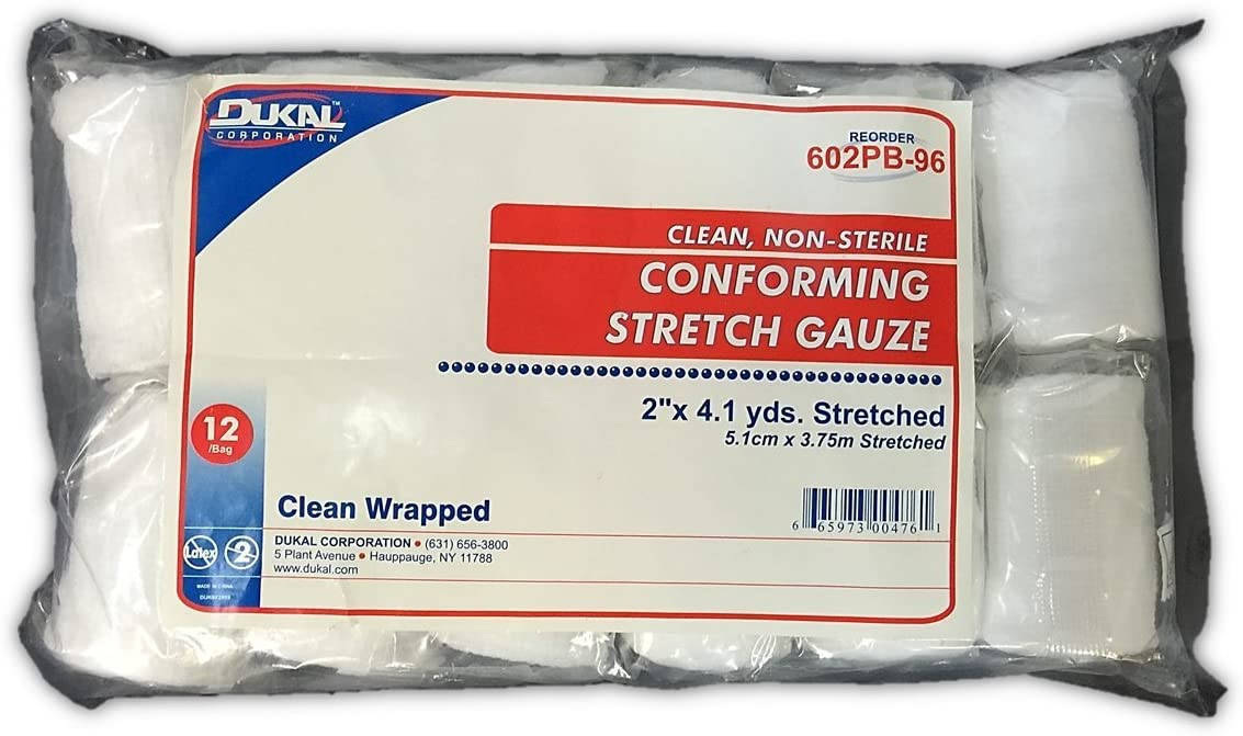 OFFicial Conforming Stretch Gauze 12-Rolls Dukal Topics on TV By 2
