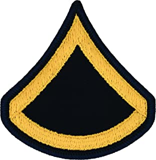 PFC E-3 Army Chevrons - Gold on Blue