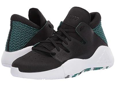 adidas Kids Pro Vision J (Big Kid) (Core Black/Footwear White/Active Green) Kids Shoes