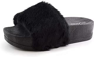 Best fluffy black sliders Reviews