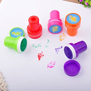 Fun Central 24 Pieces - Dinosaur Stampers Set for Kids - Assorted Self Inking Stamps for School