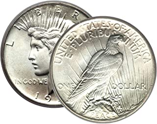 1 - Peace Silver Dollar Mid-1920's Dated Dollar Brilliant Uncirculated US Mint