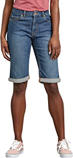 Dickies Women's Perfect Shape Denim Bermuda Shorts