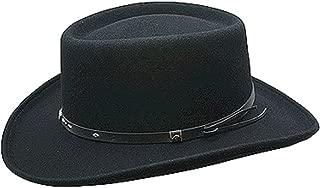Conner Hats Men's Quincy Wool Gambler Hat, Black, M
