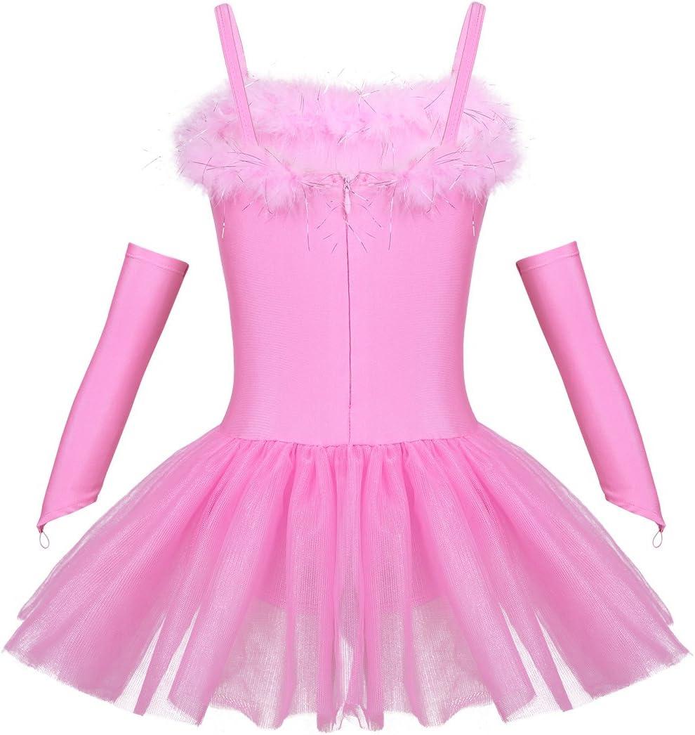 inlzdz Juego de 3 maillot de ballet con lentejuelas de piel sint/ética para ni/ñas y ni/ñas