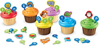 Learning Resources ABC Cupcake Party Toppers, Early Alphabet Learning, Vocabulary Toy, Ages 3+