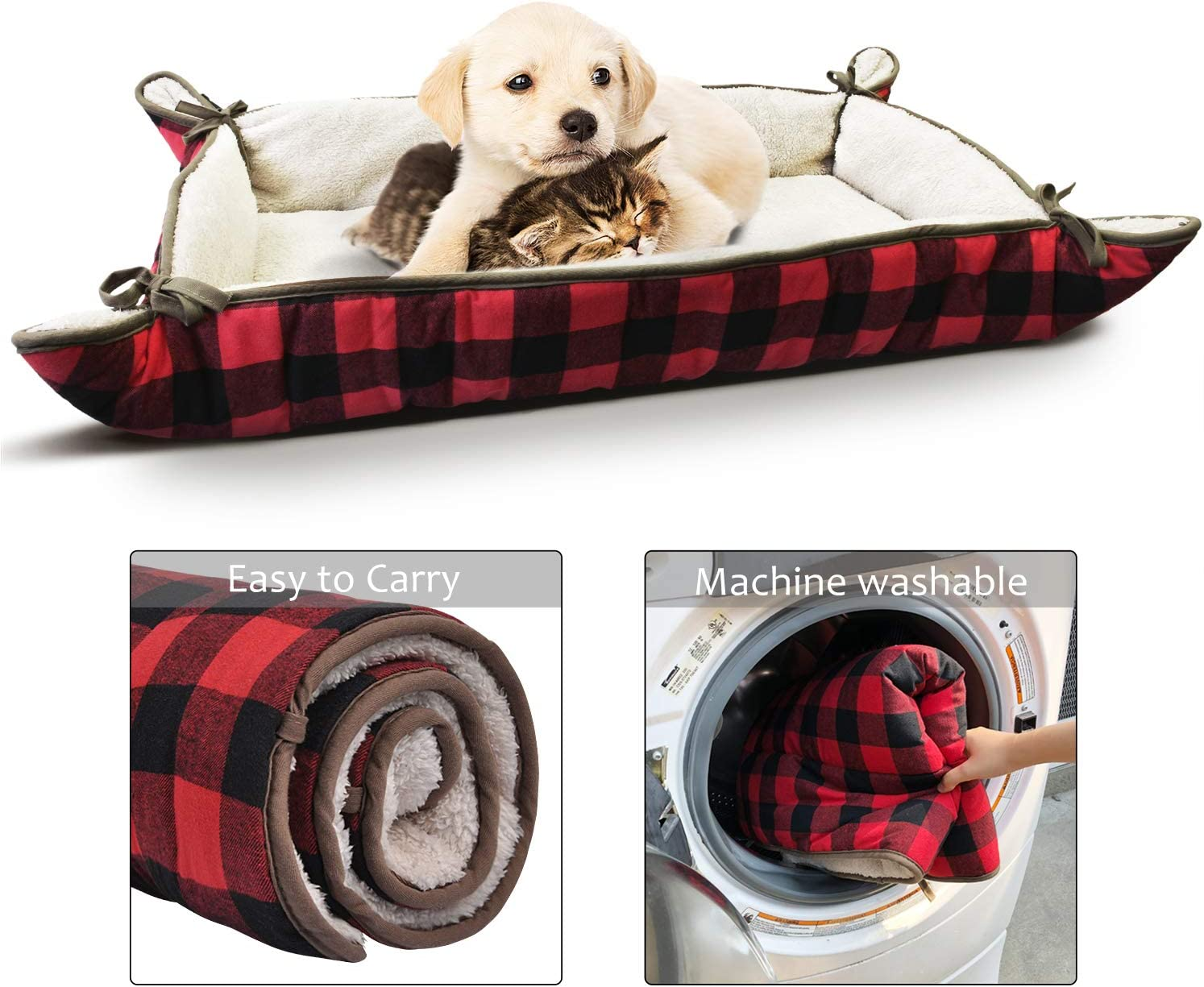 Tirrinia Columbus Mall Foldable Pet Bed Mat for Cats Ultra-S Small Medium quality assurance Dogs