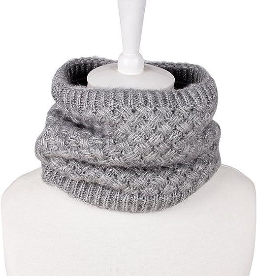 OULII Bufanda de Cuello Invierno de lana para Mujer o Hombre