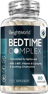 Bedtime Complex - 60 Tabletter - Naturlig Tillskott med Hög Styrka För Män & Kvinnor, Vitamin B-komplex, C-vitamin, 5-htp,...