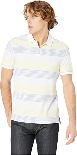 Short Sleeve Engineer Stripe Polo