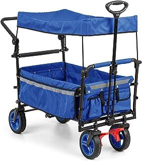 comprar comparacion Waldbeck Easy Rider - Carretilla techada, Carro, Resiste 70 Kg, Funda de poliéster 600D Resistente y fácil de cuidar, 2 Ci...