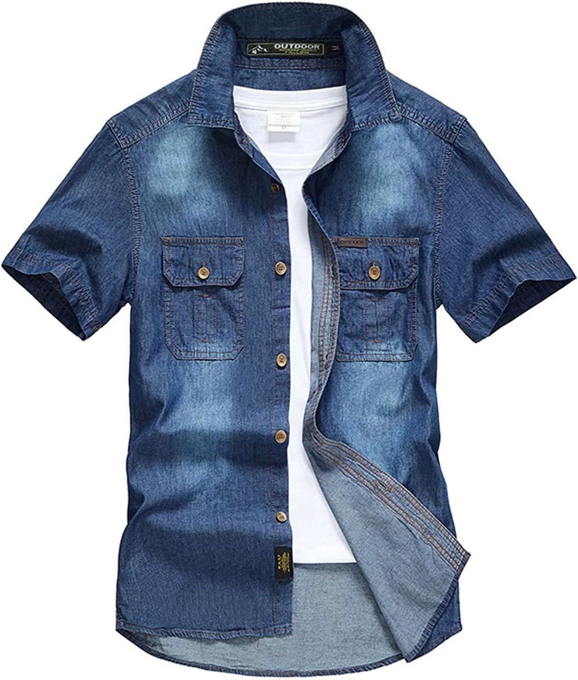 Men's Summer Product Casual Japan Maker New Button Down Shirts Denim Slim S Standard-Fit