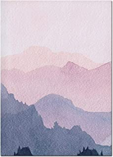 Get-in Canvas Poster Prints Watercolor Wall Art Mountain Posters and Prints Scandinavian Art Canvas Painting Minimalist Modern Wall Pictures for Living Room,13X18Cm No Frame,01