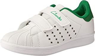 Clarks Boys' Decker JNR Trainers, White/Green E