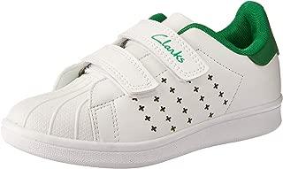 Clarks Boys' Decker JNR Trainers, White/Green E