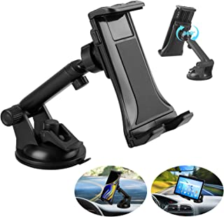 Linkstyle 2 in 1 Car Tablet Mount Holder, Universal Windshield Dash Mount Car Phone Holder with Suction Cup Compatible with Samsung Galaxy/iPad Mini/iPad Air/iPad Pro/iPhone (4