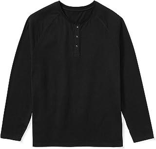 Men's Long-Sleeve Henley Shirt fit by DXL