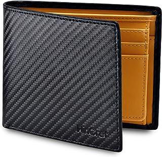 WinCret Portafoglio Nero Uomo con Coulisse e Portamonete - Protezione RFID Portafogli Porta Tessere con finestra di ID. in...