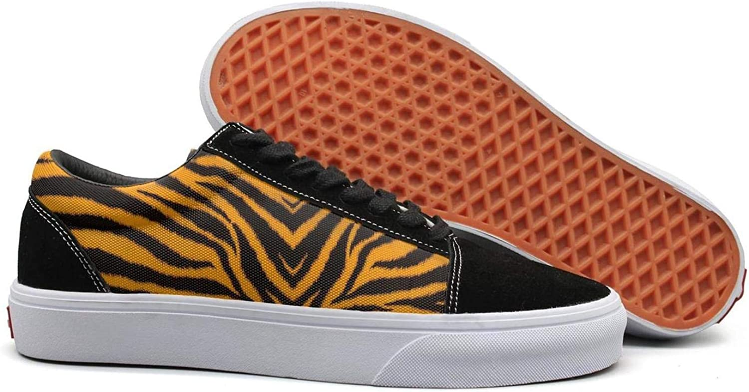orange Tiger Pattern Woman Casual shoes Flat Lo-Top