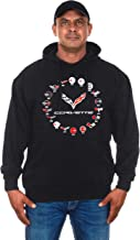 JH DESIGN GROUP Men's Chevy Corvette Hoodies Pullover & Zip Up Sweatshirts in 6 Styles