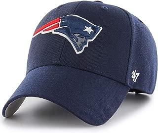'47 New England Patriots Hat NFL Authentic Brand MVP Adjustable Velcroback Navy Football Cap Adult One Size Men & Women 85% Acrylic,15% Wool