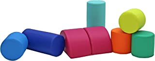 FDP SoftScape Playtime Big Building Block Set, Stacking Soft Foam Cylinders for Toddlers and Kids; Includes Versatile Fold...