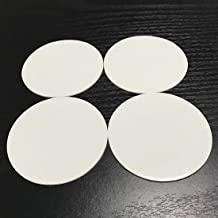 4 Sticky Mounting Pads 1.77 Inches Double Sided Adhesive Wall Mounting Tabs Round Sticky Suction Cup Glue Super Strong for Cameras GPS, Dashboard Toys, Windshield, Tiles, Pictures