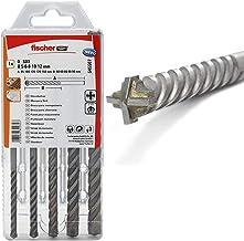 fischer 545507 steenborenset D-SDX 5mm - 12mm, 4-snijder voor boren in steen en metselwerk, 5 steenboren in verschillende ...
