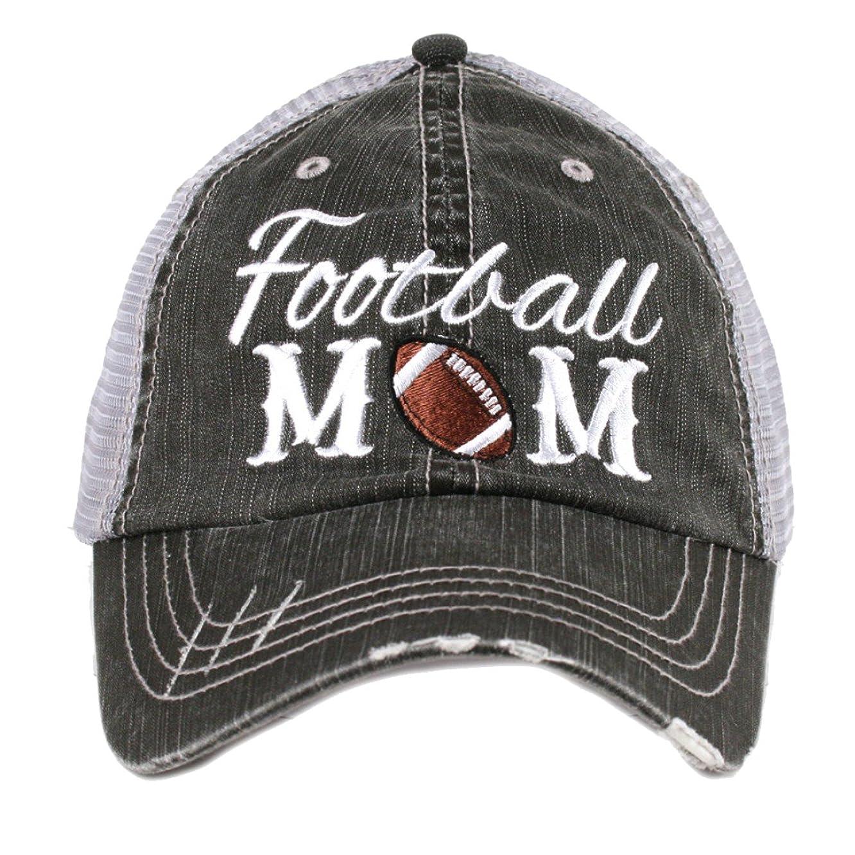 Katydid Football Mom Women's Trucker Hat Gray