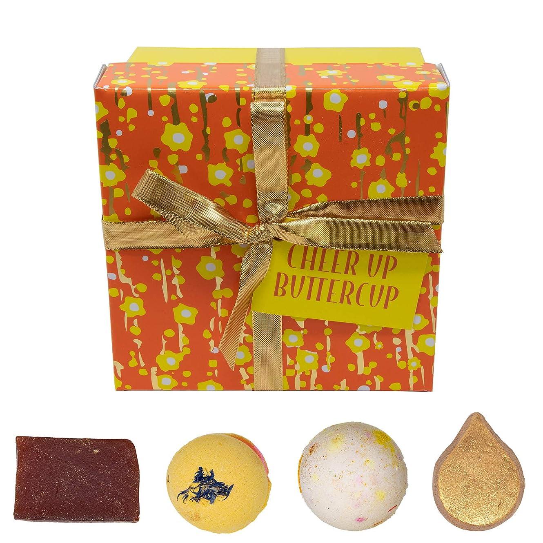 平野可愛いレイアウト(ラッシュ) LUSH ラッシュ チアアップ バターカップ Cheer Up Buttercup 石鹸 ギフトセット ソープセット ショップバッグ付き バスボム 入浴剤 セット