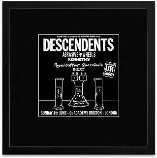 Descendents Abrasive Wheels Kenneths - Exclusive UK Show O2 London June 2017 Framed Mini Poster - 18x18cm