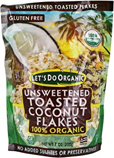 LETS DO Organic Toasted Coconut Flakes, 7 OZ