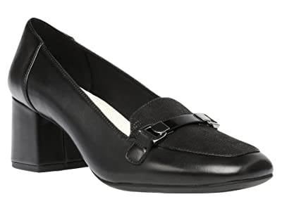 Anne Klein Evera Pump (Black Leather) Women