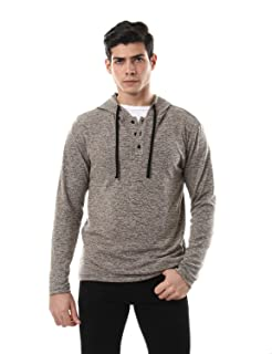 Off Cliff Front Buttons Long Sleeves Hoodie for Men