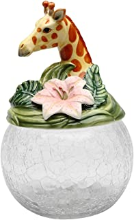 Cosmos Gifts 10805 Giraffe Cookie/Candy Jar with Ceramic Lid, 9-1/2-Inch