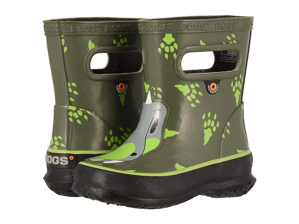 Bogs Kids Skipper Animals (Toddler/Little Kid) (Dino Green Multi) Boys Shoes