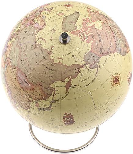 Baoblaze Globe Magnétique de voiturete du Monde d'ABS avec Support en Acier Durable Jouet éducatif pour Enfant - Jaune