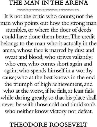 image regarding The Man in the Arena Printable referred to as : \