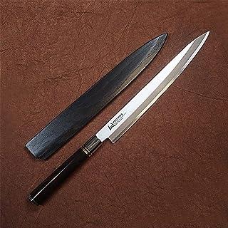 Haute qualité Couteau de cuisine poisson Couteau à filet avec Fourreau japonais professionnel en acier inoxydable Yanagiba...