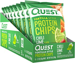 Quest Tortilla Style Protein Chips Chili Lime (8 Bags)