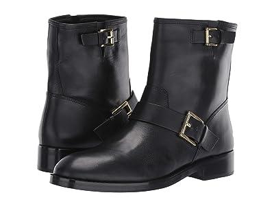 MICHAEL Michael Kors Reeves Bootie (Black Vachetta/Stacked Heel) Women