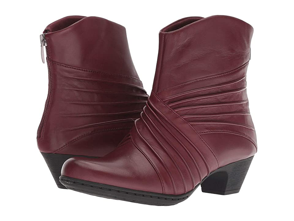 Rockport Brynn Rouched Boot (Merlot) Women