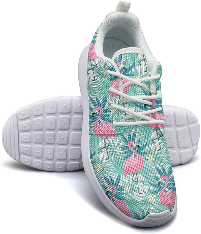 Eoyles gy Tropical Flamingo Bird Attractive Women Slip Resistant Lightweight Running Boat shoes