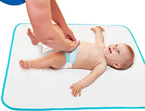 "Portable Changing Pad with Free Storage Bag - Waterproof Reusable Changing Pad Extra Large Size 31.5"" x25.5'' - Baby Changing Mat with Reinforced Double Seams for Boys Girls Unisex"