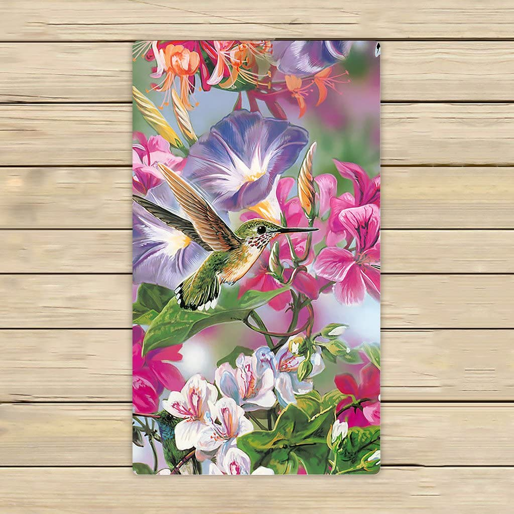 Custom Novelty Hummingbird Hand Towel Spa Towel Beach Bath Towels Bathroom Body Shower Towel Bath Wrap Size 13x13 Inches Home Kitchen